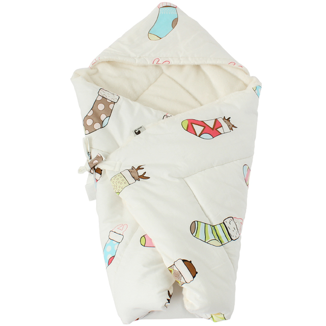 Thick & Warm Baby Swaddle – Gray crown