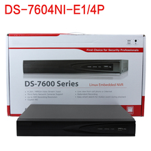 IN stock english version 4 PoE ports network interface Economic PoE NVR DS-7604NI-E1/4P HDMI and VGA output