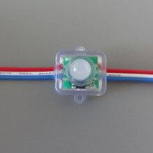 Mokungit 50pcs 12MM WS2811 מלא צבע T1515 כיכר פיקסל LED מודול תאורה מחרוזת 5V 12V RGB waterproof מיעון דיגיטלי