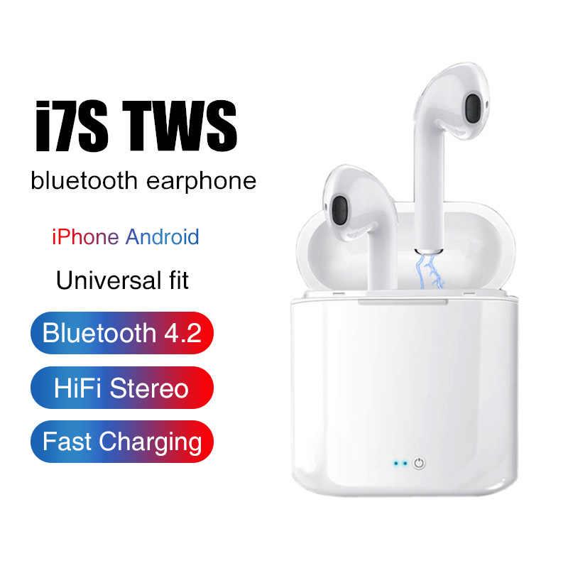 I7s TWS سماعات الهواء بلوتوث لاسلكي مصغر سماعة ستيريو ياربود سماعة ميكروفون آيفون شاومي جميع هاتف ذكي i10 i12 i9s