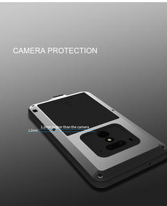 Image 5 - For HTC U12 plus Love Mei brand case For HTC U12+ anti knocked Metal Aluminum Rugged with free Tempered Gorilla Glass Case Cover
