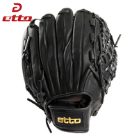 Etto High Quality Leather Baseball Glove Left Hand 11 5 12 75 Inch Men Women Professional