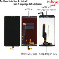 Redberry 5 5 For Xiaomi Redmi Note 4X Note4 LCD Display Touch Screen Digitizer Replacement NOTE