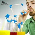 Flexible Funny 3D Silicone Drinking Tube DIY Straws Set Make & Build Your Own Funky Drinking Straw Party And Bar Supplies