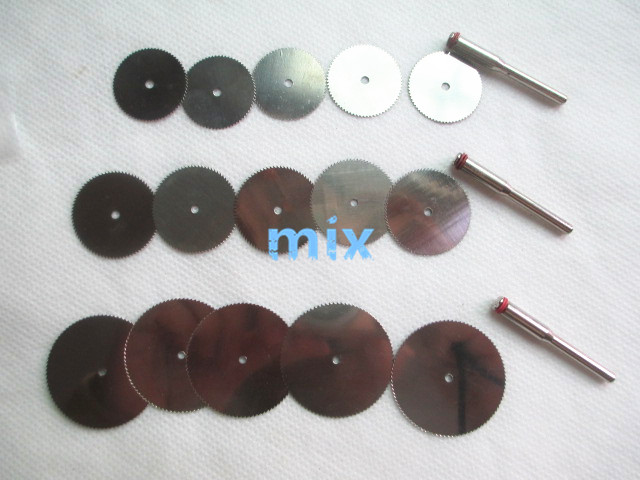 Fixmee 15 Pcs 22 25 32mm Steel Saw Disc Cutt Off Wheel Cutting Blades Wood For Dremel Grinder Rotary Tools