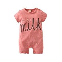 2017 New Fashion baby Romper unisex cotton Short sleeve newborn baby clothes jumpsuit Infant clothing set