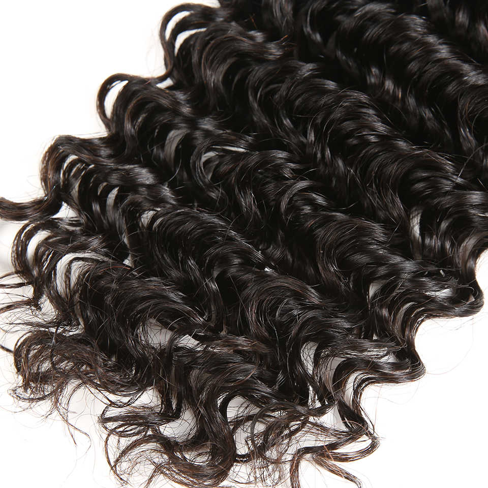 Karizma Deep Wave Brazilian Hair Weave Bundles 4 Pcs/lot 100% Human Hair Bundles Deal Remy Hair Extension Natural Black