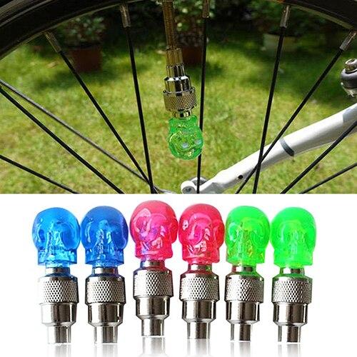 2 Pcs Creative Skull Design LED font b Light b font font b Bicycle b font