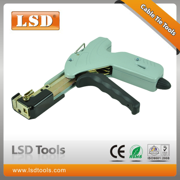 LS-338 Hanroot stainless steel cable tie cutting guns high quality guns stainless steel automatic fastening tool new arrival ssttd2 heavy duty stainless cable tie fastening cutter tool stainless steel strap clamp machine baler tools hot sale