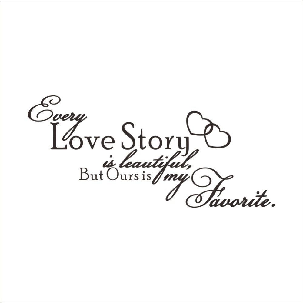 online get cheap writing love story com alibaba group love story removable cute shelf art characters writing vinyl pvc decal wall sticker mural home decor