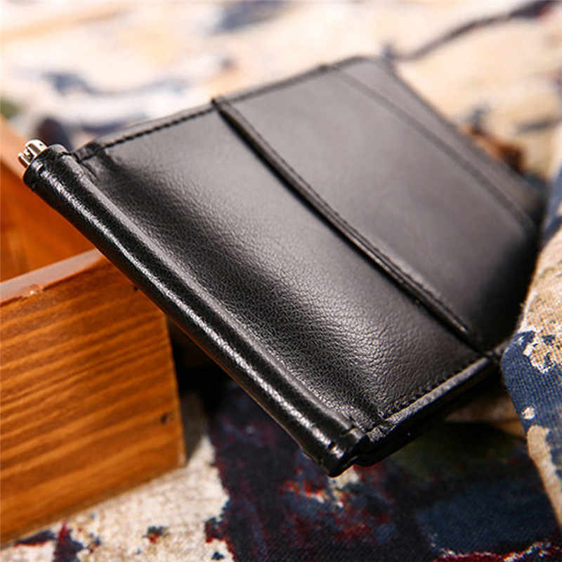 Mens Wallet Bifold Business Ultrathin Leather Multi-Storey ID Credit Card Pocket porte monnaie man wallet portafoglio uomo