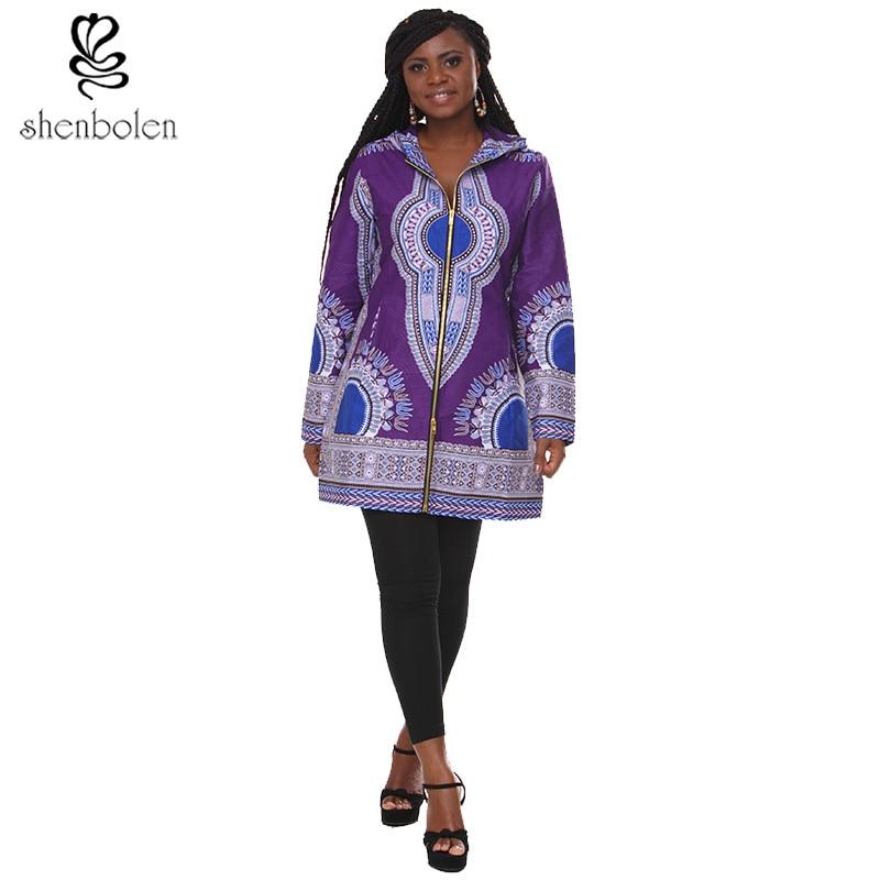 African Women Fashion jacket Long sleeve Dashiki Print Coat women Traditional Classic Batik Warm Jacket