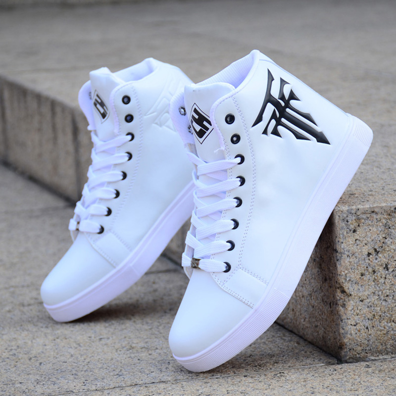 Spring Men's Shoes Korean Version Of The Trend Of High top Shoes Men's White Casual Wild Shoes