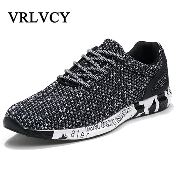 Mesh Designed Fly Weave Men's Casual Shoes Male Breathable Lace Up Leisure Hollow Urban style version Shoes Casual Shoes
