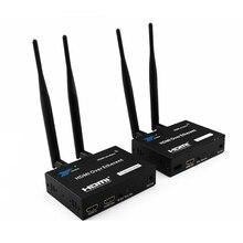 200 متر اللاسلكية واي فاي HDMI جهاز ريسيفر استقبال وإرسال 2.4 GHz/5 GHz 1080P المحلية حلقة التدريجي مع IR البعيد HDMI موسع