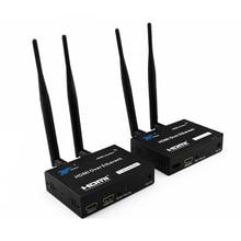 200 м беспроводной Wi Fi HDMI передатчик приемник 2,4 ГГц/5 ГГц 1080P локальный выход с ИК дистанционным удлинителем HDMI