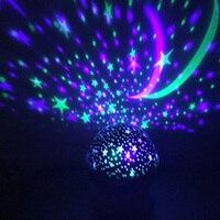 Novelty Rotating Night Light Projector Spin Starry Sky Star Master Kids Baby Sleep Romantic Led USB