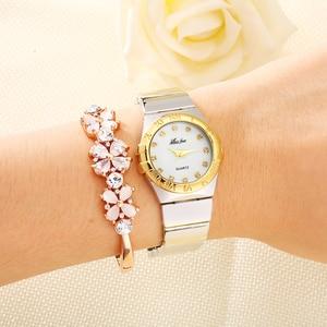 Image 5 - MISSFOX Elegantนาฬิกาผู้หญิงเพชรตัวเลขโรมันPearl Shell Classicสุภาพสตรีนาฬิกากันน้ำหญิงควอตซ์นาฬิกาข้อมือ