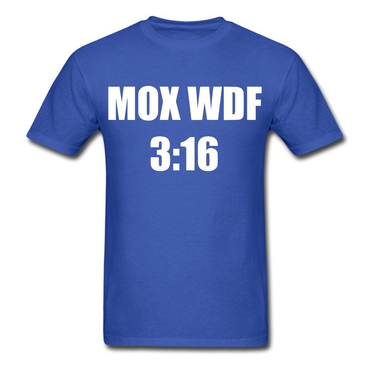 What da Faq Show MOX WDF 3:16 s T-Shirt Printed T Shirt S Short Sleeve O-Neck T-Shirts Summer Stree Twear