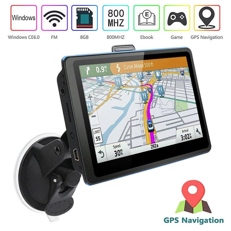 Vehemo 5 Inch 8GB ROM GPS Navigation Car Navigation GPS Turn-By-Turn Durable System Driver Alerts Universal Spoken