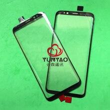 Lente de substituição para smartphone, lente exterior de vidro com tela touch screen lcd para samsung galaxy s8 s8 plus s9 s9 plus s10, 10 peças s10 plus note 8 note 9,