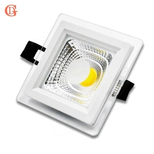 LED Downlight COB Dimmable 7W 10W 12W 15W COB LED Panel Light AC85-265V Recessed LED Downlights Square Downlight With Driver