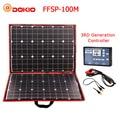Dokio 100w (50W x 2 pcs) flessibile Foldble Mono Pannello Solare Per I Viaggi e Boat & Di Alta Qualità RV Portatile Pannello Solare Cina