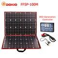 Dokio 100w (50W x 2 pcs) flexibele Foldble Mono Zonnepaneel Voor Reizen & Boot & RV Hoge Kwaliteit Draagbare Zonnepaneel China