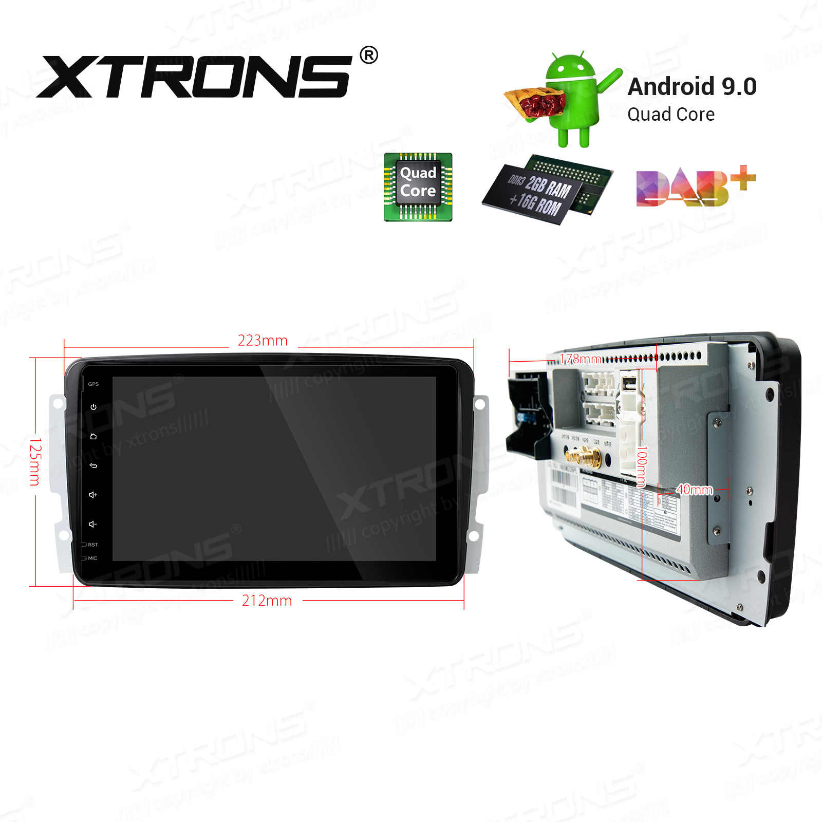 Xtrons Android 9 0 Unit Car Stereo Player For Mercedes Benz W168 W203 W209 C209 W463 Viano Vito Plug Play Design Gps No Dvd Car Multimedia Player Aliexpress