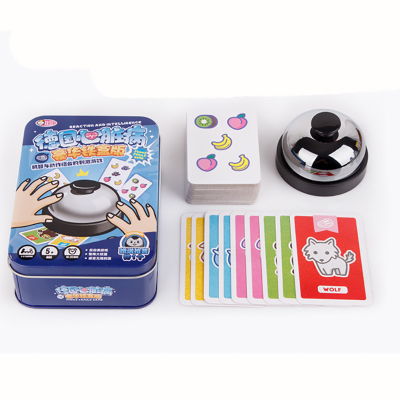 2 Kinds Halli Board Game 2-6 Players Family Fruity Extreme Version With Metal Bell Speed Action Game