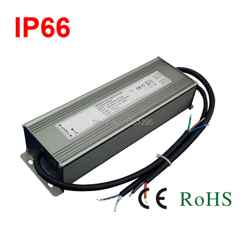 <font><b>DC</b></font> 12 V 24 V Strom suply Dimmbare Led-treiber 100 Watt 120 Watt 150 Watt 200 Watt 300 Watt Wasserdicht IP67 12 Volt lighting transformers 0-10 V dimmen image