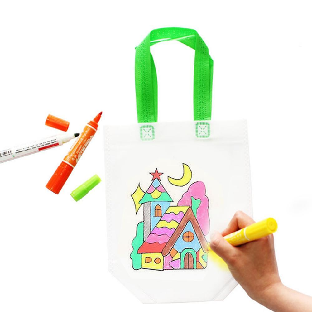 DIY Painting Drawing Bag Environmental Protection Materials Various Design Bag For Develop Child Kindergarten Patience