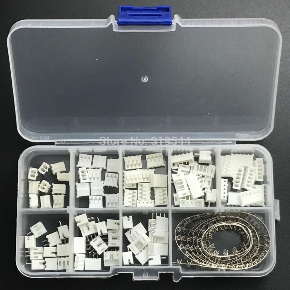 230pcs/LOT PH2.0 2p 3p 4p 5 Pin 2.0mm Pitch Terminal Kit / Housing / Pin Header JST Connector Wire Connectors Adaptor PH Kits