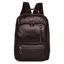 Backpack For Man Brown Real Leather Vintage Fashion Brand Designer Big 15