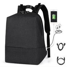 OZUKO Men Bag Anti-theft Backpack Men USB Charge Multifunction School Backpack Travel Male Mochila Business Casual Laptop Bag