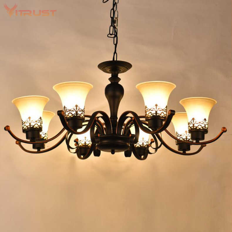 Modern luxury chandeliers large Black Chandelier For Dining Bedroom Hotel Room Hanging Light Fixture AC110-240V