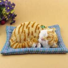 Simulation yellow cat  polyethylene&furs cat model funny gift about 25cmx20cmx7.5cm
