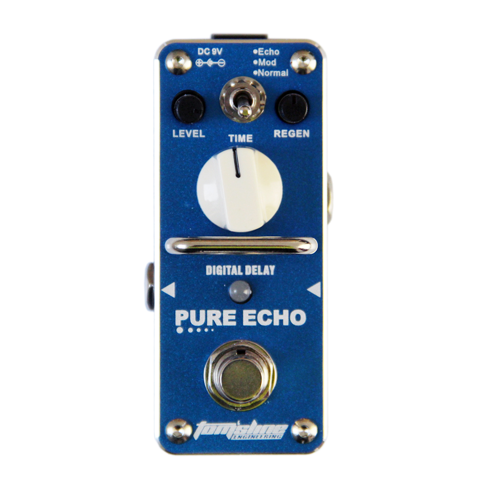 AROMA APE-3 PURE ECHO Digital retard de la pédale effets de guitare pédale Echo Mod Normal 3 Modes True B