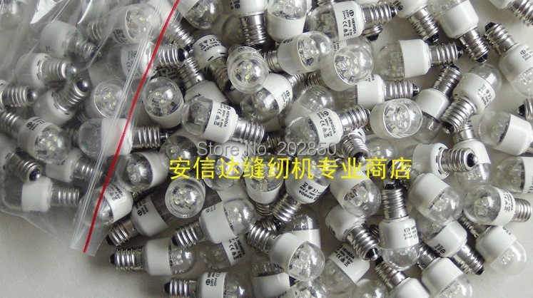 Sewing Lamp/LED E14 Bubble Light,0.5W,230V,50Hz,20mA,Household Sewing Machine Parts,For Juki,Brother,Janome,Elina,Singer,ACME...