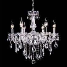 Cheap crystal chandelier home lighting lustres de cristal E14 bulb light fixtures Chandelier and Pendant Living Room Indoor Lamp