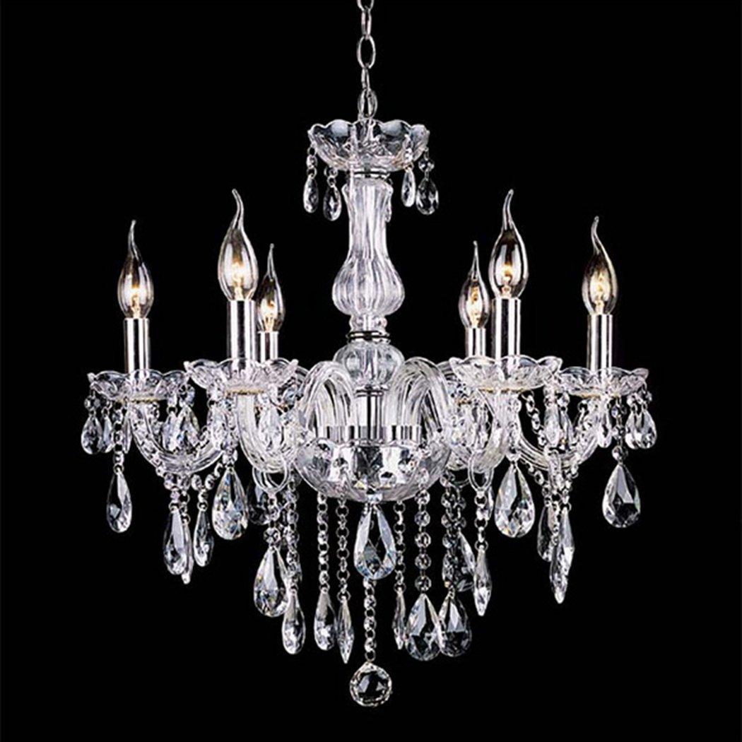 Pas cher lustre en cristal éclairage lustres de cristal E14 ampoule luminaires Lustre et Pendentif Salon Lampe Intérieure