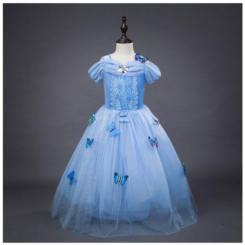 de1d99c2ebc3a Girls Party Dresses Ruffle Vintage Vestido Elsa Anna Long Dress Sophia  Princess Costume Kids Evening Dresses Girl Maxi Dress