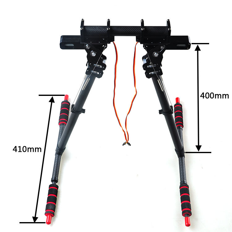 F07597 HML850 Retractable Landing Gear Skid for DIY FPV Drone S800 25mm Round Carbon Tube Arm Hexcopter Octocopter Frame hml350pro fpv auto retractable landing gear skid controller for phantom 1 2 vision fc40 rc quadcopter diy drone f16326