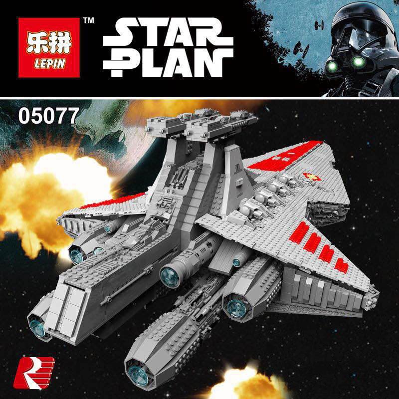 Lepin 05077 Hot-sale Star War Series The UCS Rupblic Star Destroyer Cruiser ST04 Set Building Blocks Bricks Education Boy Toys