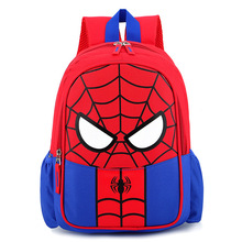 Creative Avenger 4 Childern Backpack spider Man Iron Captain America Superman Figure B557