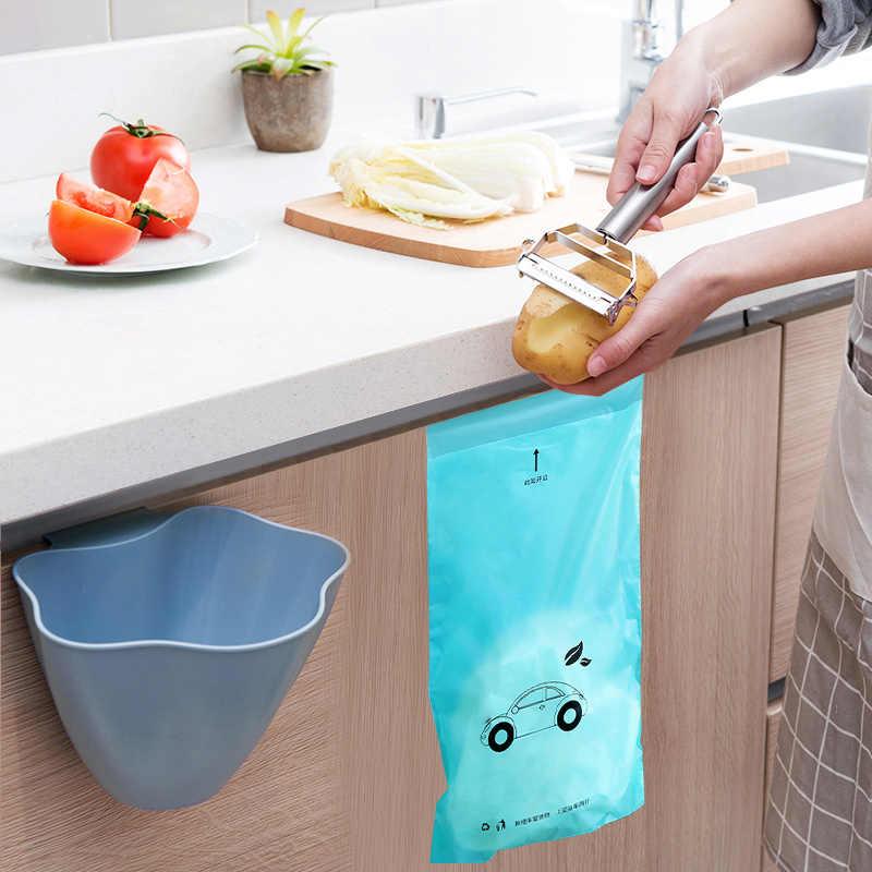 5/50 pcs organizadores cozinha Biodegradável Descartável Auto-Adesivo titular saco de lixo lixo Car bin lata de lixo de Escritório cozinha