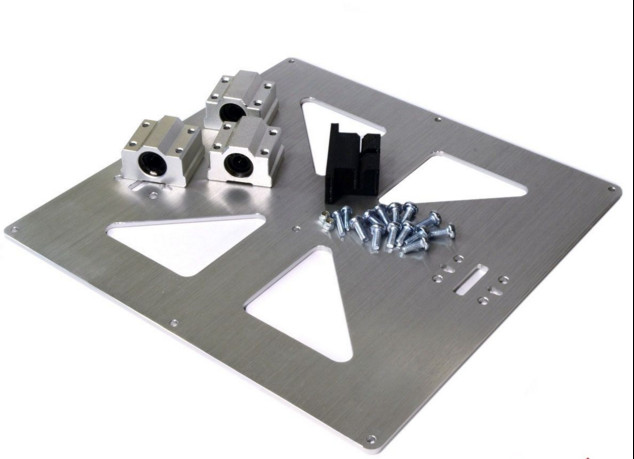"""Prusa i3 Universal Y Carriage Plate Kit """"A"""" SCV8UU Alum.Anodized for 3D Printer"""