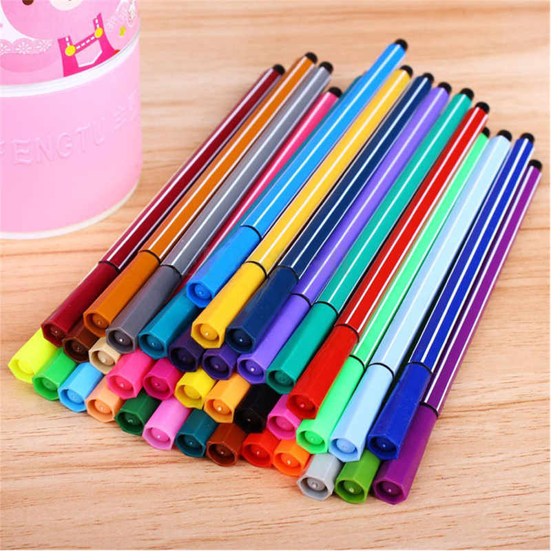36 Colors Washable Watercolor Pens Markers Set Children Painting Drawing Art Supplies Student School Stationery Kids Gift
