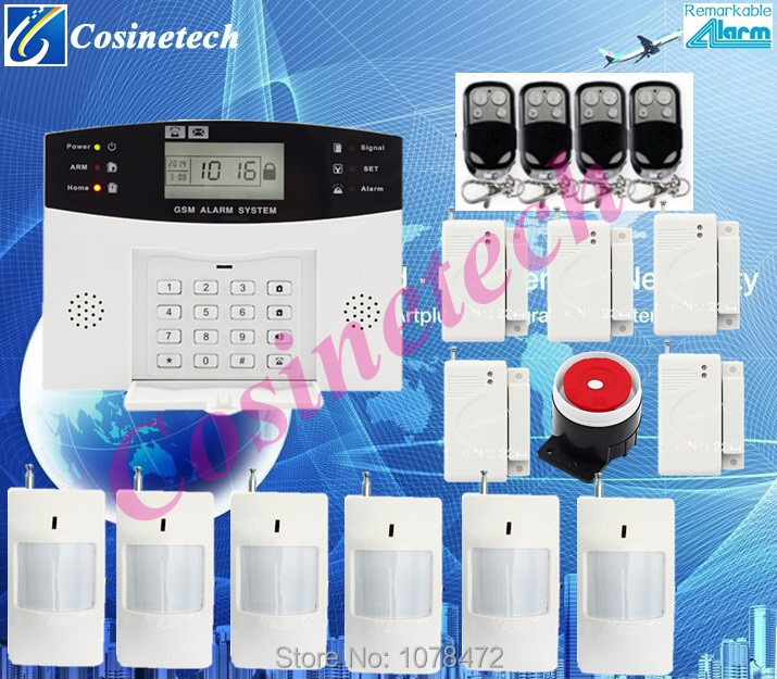 LCD display burglar alarm system in English/French/Spanish/Czech/Romanian for option GSM 850/900/1800/1900MHz home alarm system hot sales lcd display wireless wired sms gsm alarm system auto dial gsm 850 900 1800 1900mhz home security gsm alarm system