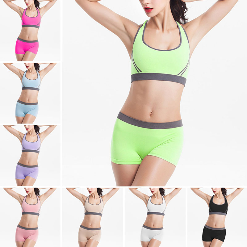 9f7ae0c0ba1 Women Underwear Sexy Sports Underwear Women Seamless Wireless Bra Set+Shorts  Panties Gym Running Training Lingerie 9 Color Q2469-in Bra   Brief Sets  from ...